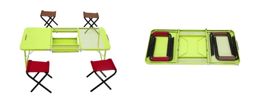 tomshoo camping klapptisch mit 4 st hlen f r nur 22 50 euro inkl versand aus deutschland. Black Bedroom Furniture Sets. Home Design Ideas