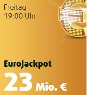 Heute 23 Mio. im EuroJackpot! 2 Felder Eurojackpot + 25 Rubbellose nur 99 Cent für Lottoland Neukunden