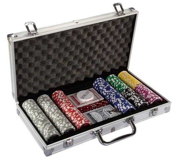 Vegas, Baby! Texas Hold'em Poker-Set mit 300 Chips im Aluminium-Koffer für nur 19,95 Euro
