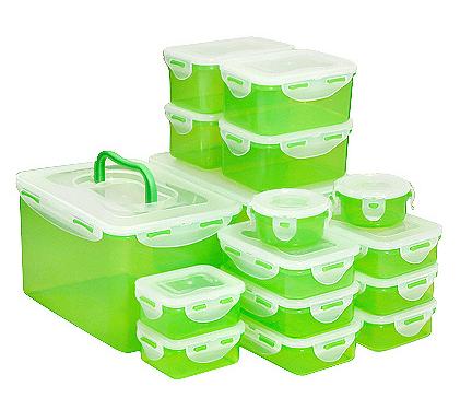 Lock&Lock Frischhaltedosen-Set mit 16 Dosen