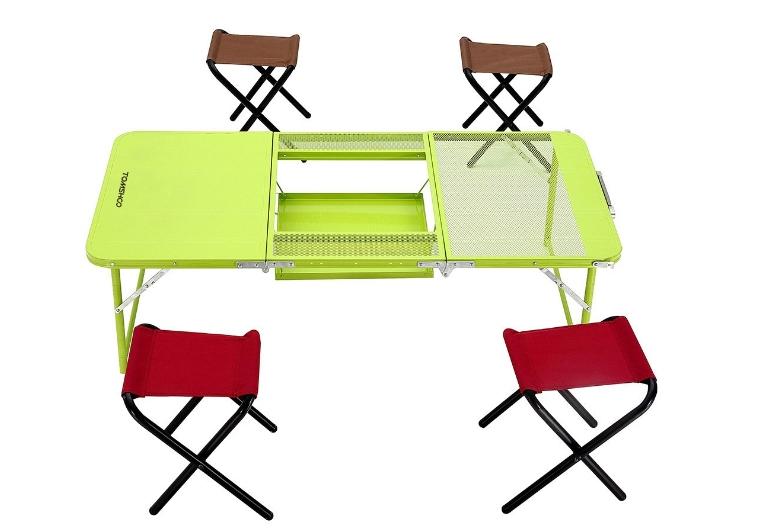 TOMSHOO Camping-Klapptisch mit 4 Stühlen für nur 22,50 Euro inkl. Versand aus Deutschland