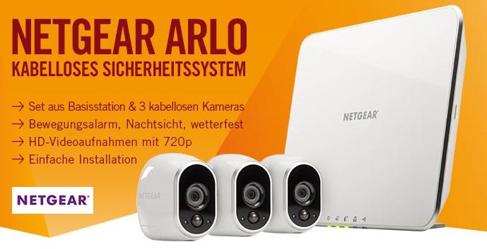 netgear arlo sicherheitssystem vms3330 mit 3x kamera basisstation f r 349 euro. Black Bedroom Furniture Sets. Home Design Ideas