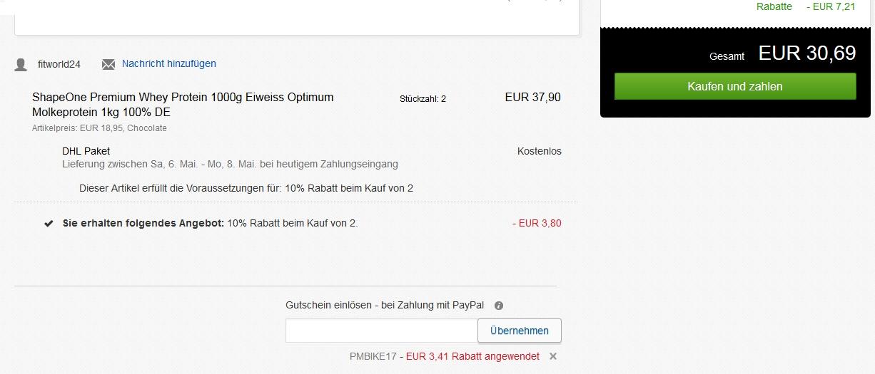 ebay 15 euro paypal gutschein. Black Bedroom Furniture Sets. Home Design Ideas
