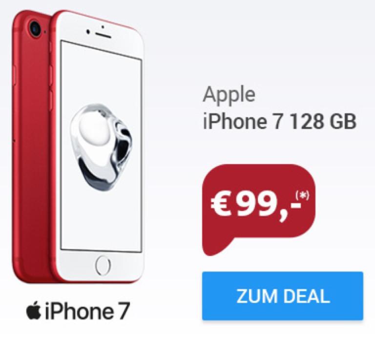 Vodafone Smart L Deluxe mit Allnet- & SMS-Flat, 2GB Daten & EU-Roaming für mtl. 44,99 Euro + Apple iPhone 7 128GB für nur 99,- Euro