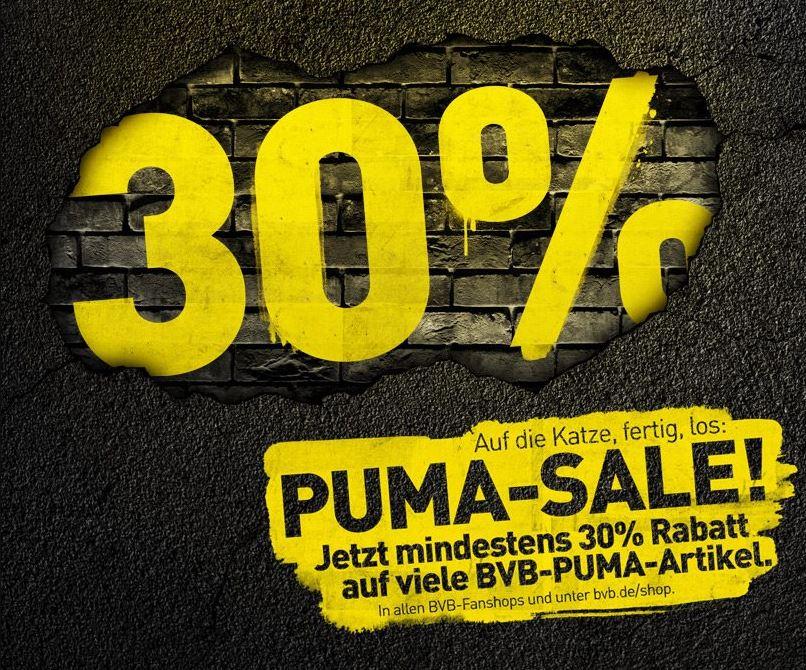 Mindestens 30% Rabatt auf BVB-PUMA-Artikel im BVB Fanshop