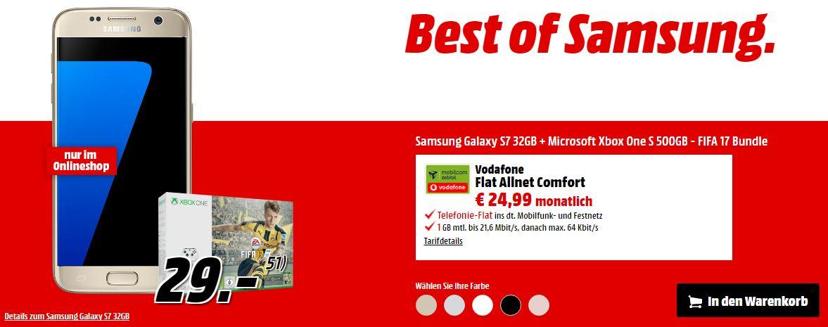 Vodafone Flat Allnet Comfort für mtl. 24,99 Euro + Samsung ...