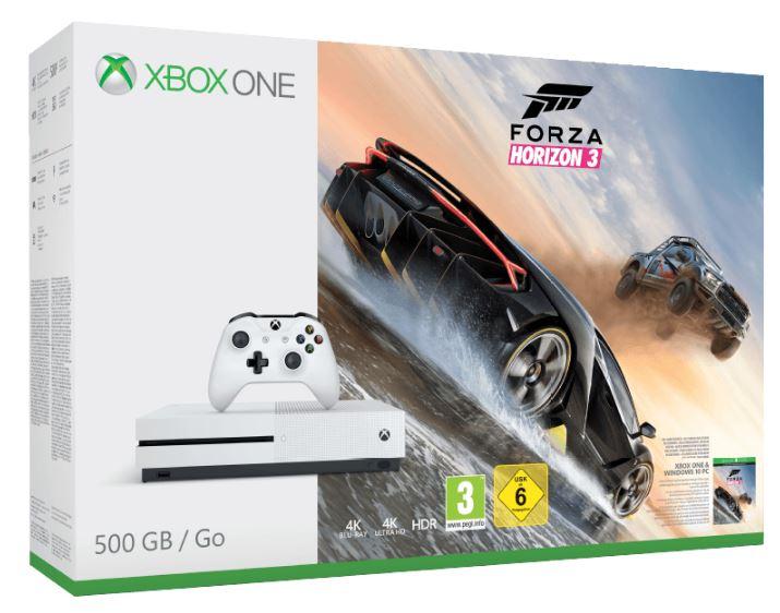 MICROSOFT Xbox One S (500GB) inkl. Forza Horizon 3 für nur 203,99 Euro inkl. Versand