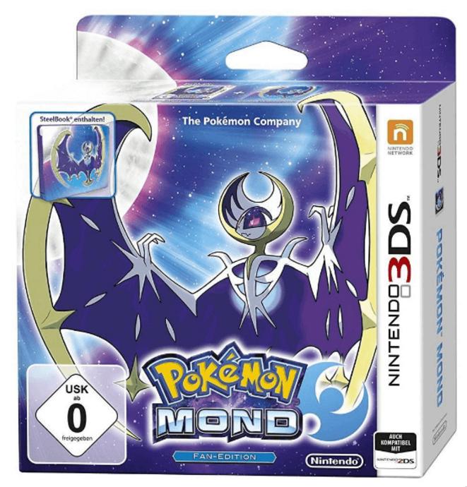 Pokemon Sonne bzw. Mond Steelbook Fan Edition (3DS) für nur 29,99 Euro inkl. Versand