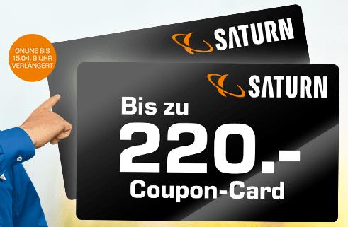 Bis zu 220,- Euro geschenkt beim Kauf von TVs, Soundbars, Haushaltsgroßgeräte, Küchenmaschinen usw. bei Saturn