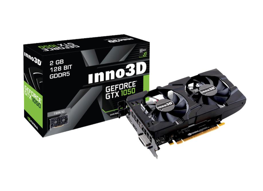 INNO3D GeForce GTX 1050 Twin X2 2GB (N1050-1DDV-E5CM) (NVIDIA, Grafikkarte) für nur 101,- Euro inkl. Versand