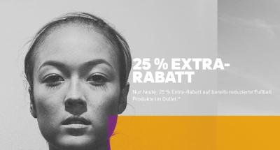 Nur heute: 25% Rabatt auf alle Fussball-Artikel im Adidas Outlet!