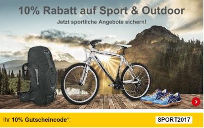 10% Gutschein auf Sport & Outdoor Produkte bei Allyouneed