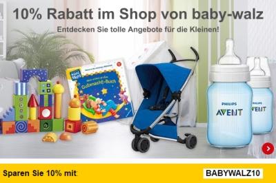 10% Gutscheincode auf alle Artikel von Baby-Walz bei Allyouneed