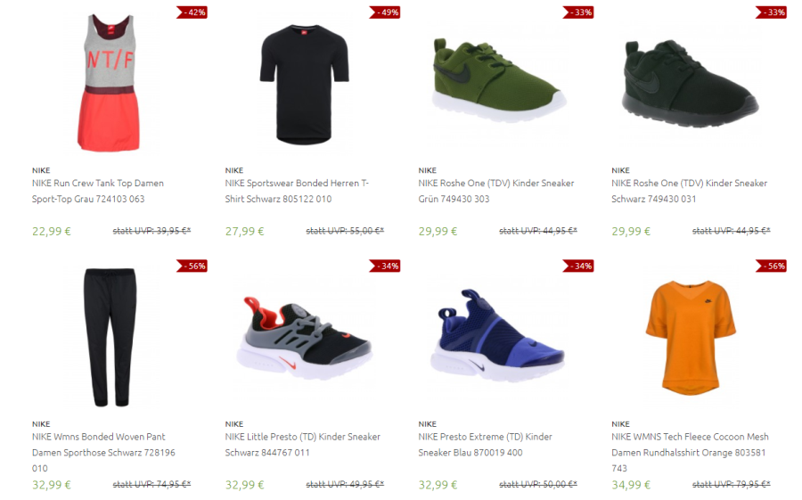 Nike Sale bei Outlet46