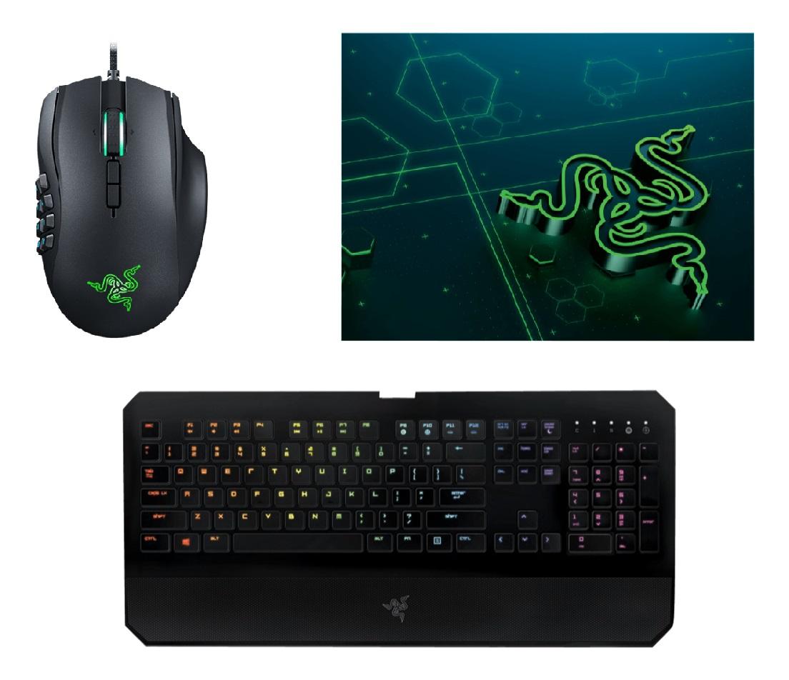 RAZER Deathstalker Chroma Gaming Tastatur + Naga Chroma Gaming Maus + Razer Goliathus Mobile Mauspad ab 99,- Euro