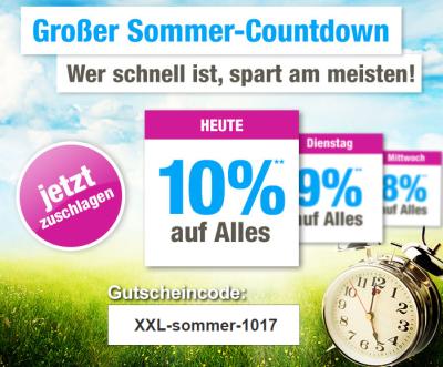 Nur heute: 10% Gutscheincode auf das komplette Sortiment bei GartenXXL
