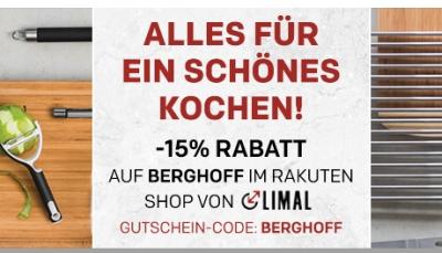 15% Gutscheincode auf Berghoff Artikel bei Rakuten und kostenloser Versand