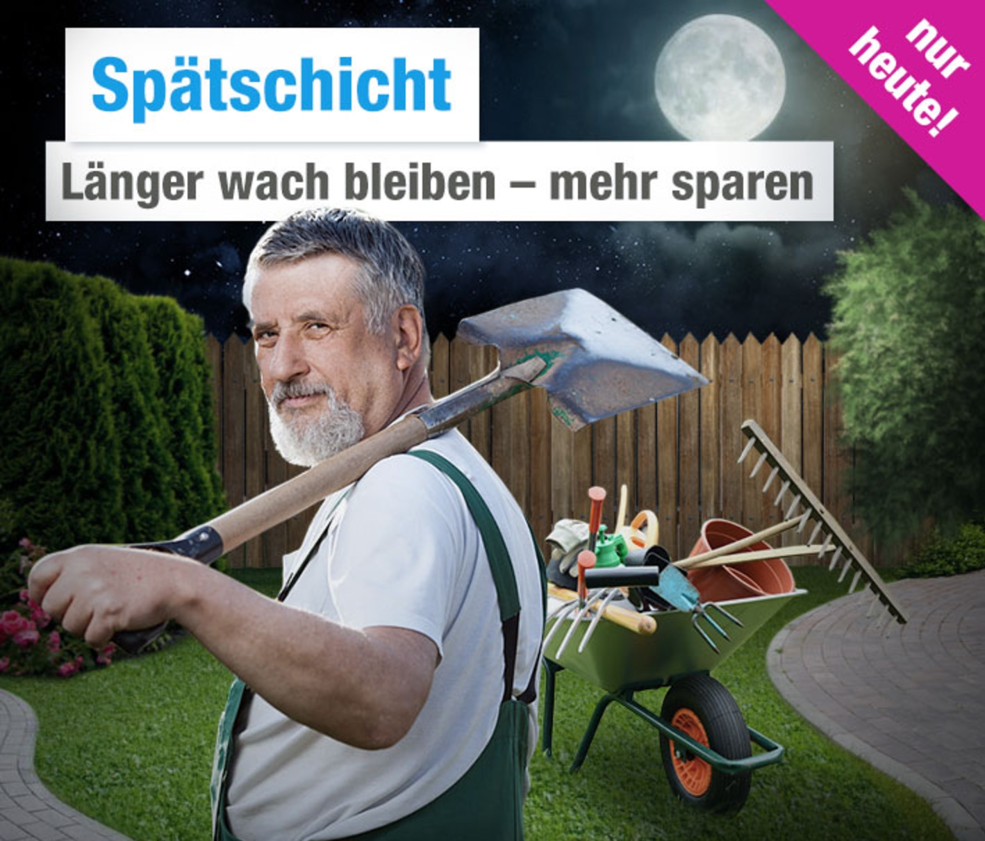 GartenXXL: Bis zu 10,- Euro Rabatt beim Late Night Shopping
