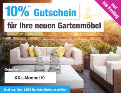 10% Rabatt auf die gesamte Kategorie Gartenmöbel bei GartenXXL