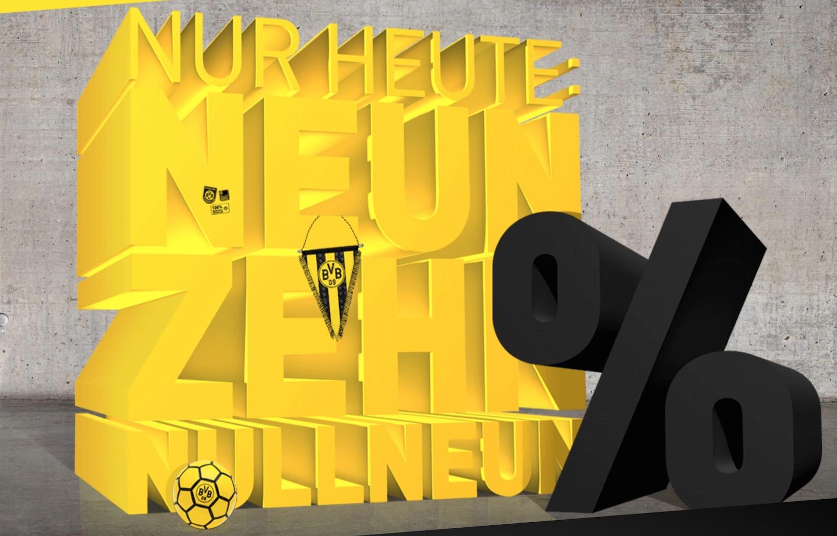 19,09% Rabatt auf nahezu das ganze Sortiment + gratis Prämie je nach Bestellwert im BVB Online-Shop