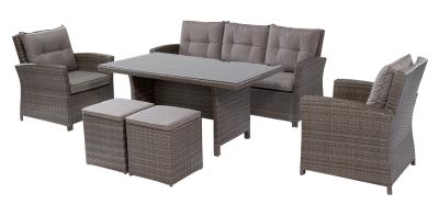 OBI Esstisch-Lounge-Gruppe Vermont 6-teilig für 1039,20 Euro inkl. Versand statt 1299,- Euro
