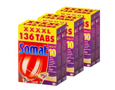408 Stück Somat Multi 10 Geschirrspültabs für nur 52,95 Euro inkl. Versand