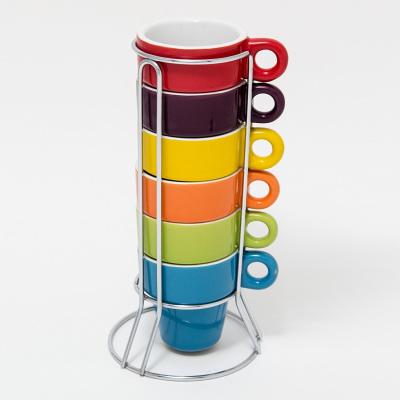 Preisfehler: 6er Set Espresso Tassen mit Ständer für 1,- Euro bei Amazon