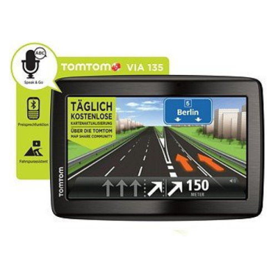 tomtom navi via 135 m ce mit 5 display und free lifetime. Black Bedroom Furniture Sets. Home Design Ideas