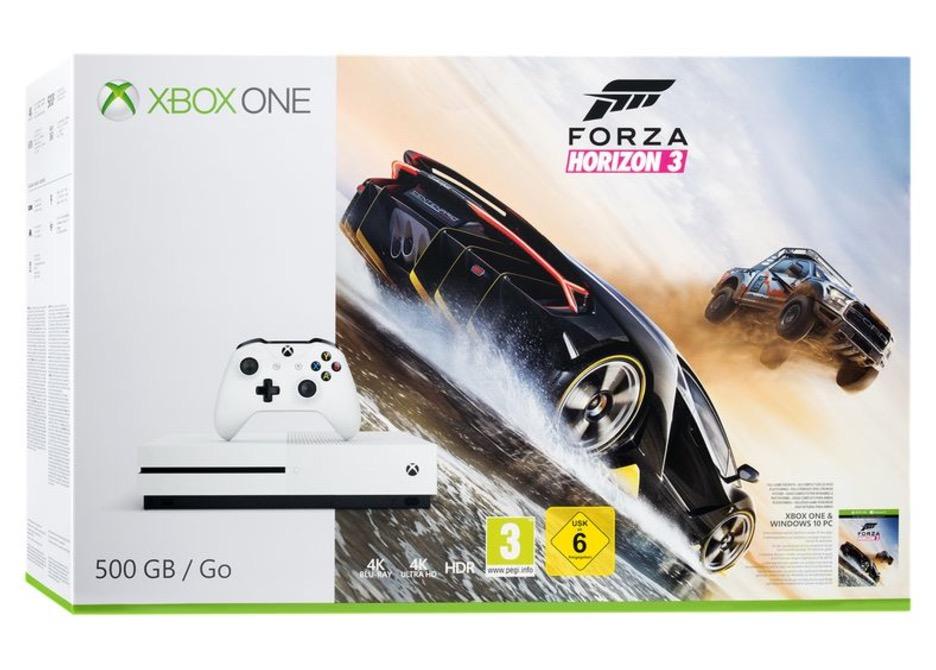 Microsoft Xbox One S 500GB white + Forza Horizon 3 für nur 199,- Euro