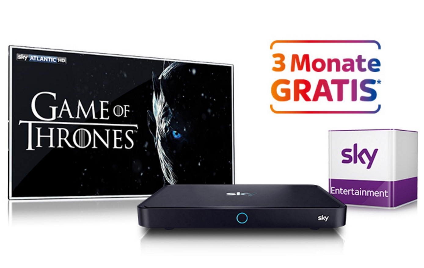Sky Entertainment (inkl. der neuen Game of Thrones Staffel) 3 Monate gratis – danach 16,99 Euro monatlich