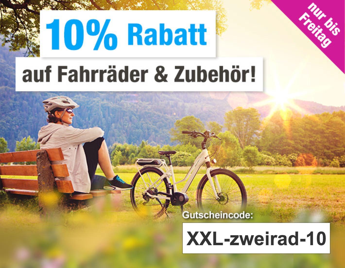 10% Rabatt auf die gesamte Kategorie Fahrräder bei GartenXXL