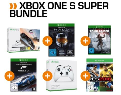 Knaller! Xbox One S 500 GB, einem 2. Controller und 7 Spielen für nur 236,17 Euro