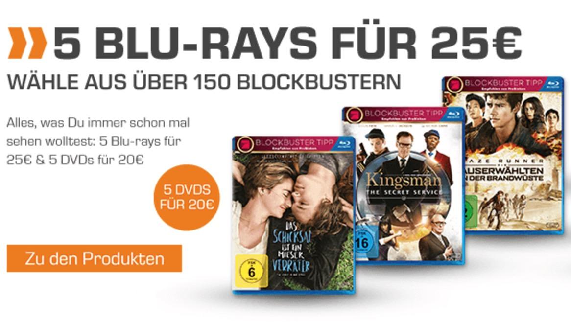 Heute neu! 5 Blu-ray Filme für nur 25,- Euro bei Saturn- über 170 Filme zur Auswahl