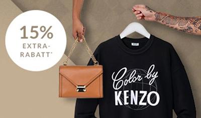 Nur heute 15% Extra-Rabatt auf über 3.000 Luxusmarken-Artikel – z.B. D&G, Kenzo oder Burberry