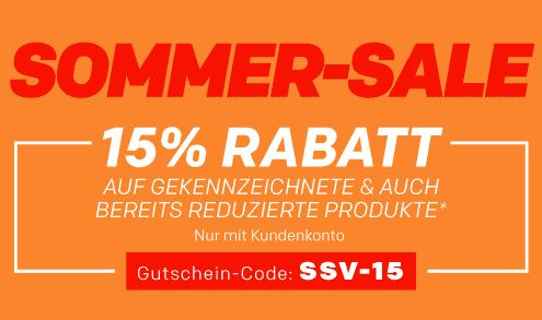 Sommer-Sale bei Rakuten mit 15% Rabatt auf ausgewählte Produkte vieler bekannter Shops