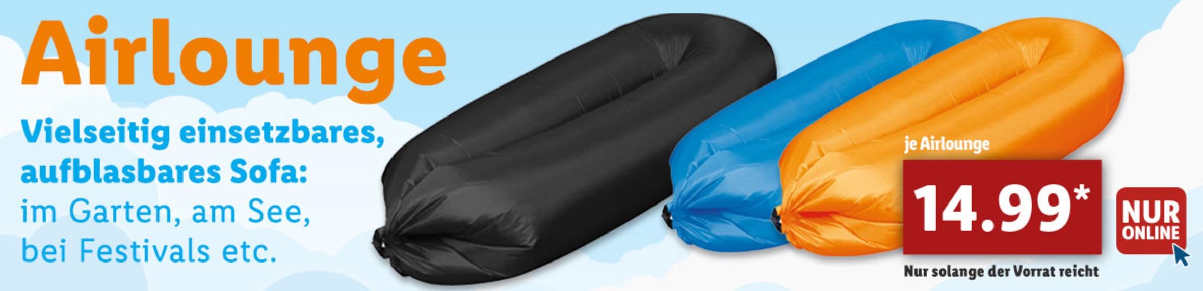 airlounge luftsofa f r nur 14 99 euro im lidl onlineshop. Black Bedroom Furniture Sets. Home Design Ideas