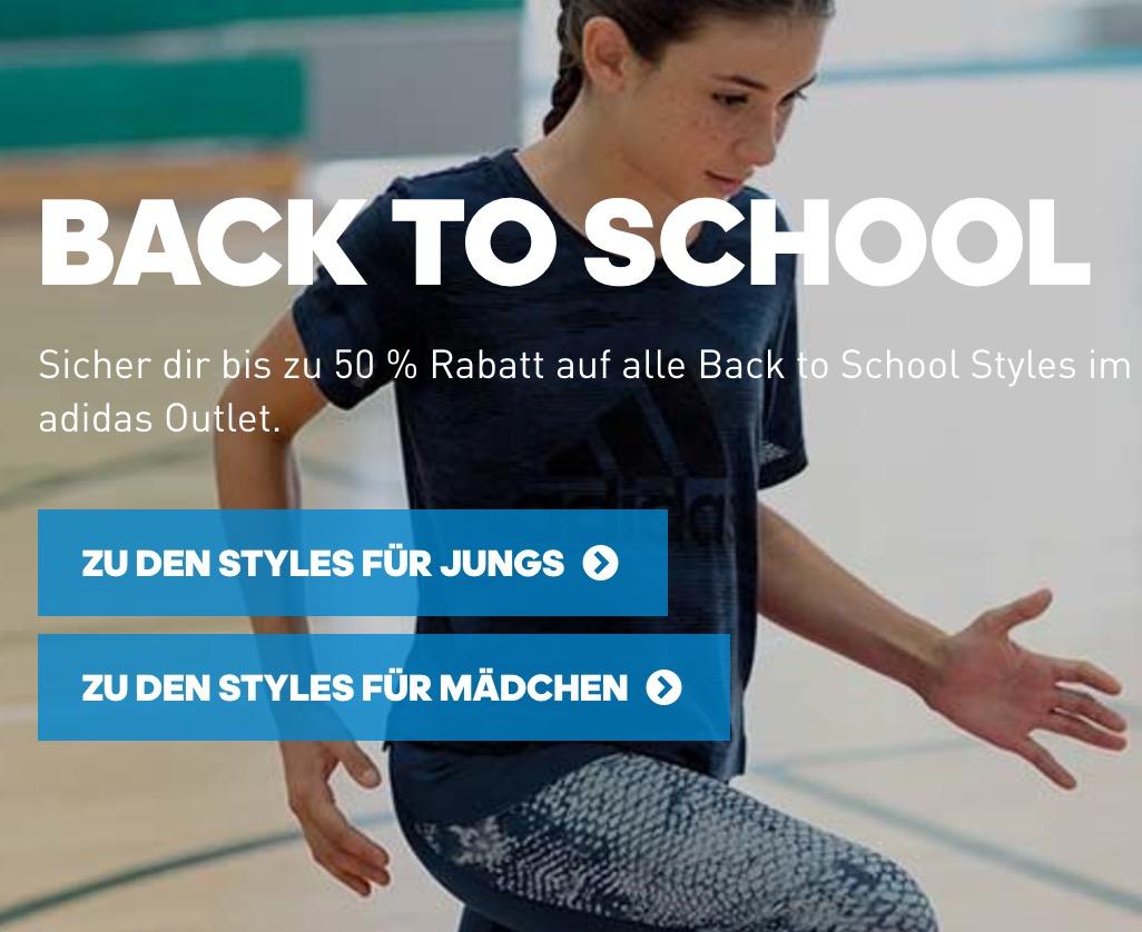 Großer Adidas Back to School Sale mit bis zu 50% Rabatt auf Kinderkleidung
