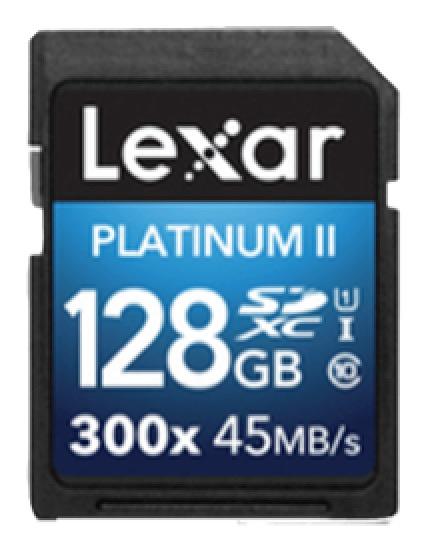 LEXAR Platinum II SDXC Karte 128 GB