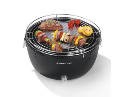 GOURMETmaxx Holzkohle Tisch-Grill mit 37cm Durchmesser nur 32,95 Euro als B-Ware