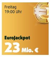 23 Mio. Eurojackpot: Jetzt als Lottoland Neukunde 6 Felder und 5 Rubbellose für 2,99 Euro spielen!