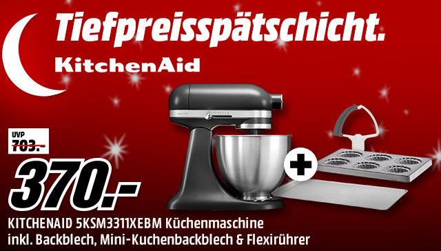 Tiefpreisspätschicht bei Media Markt mit vielen verschiedenen Produkten von KitchenAid