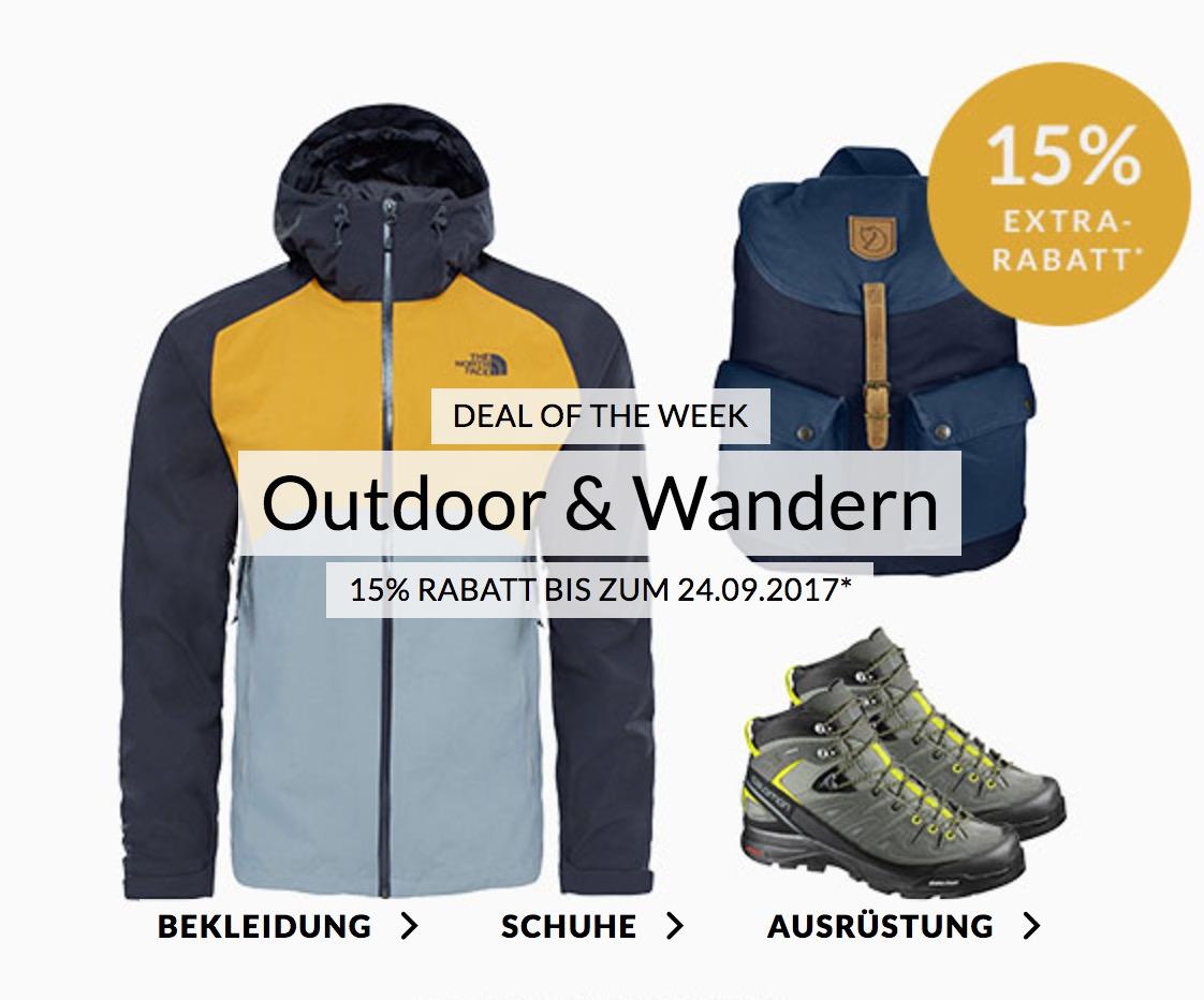 Engelhorn Sports Weekly Deal: 15% Rabatt auf Outdoorartikel & Wandermode