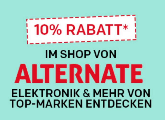 Bei Rakuten im Shop von Alternate satte 10% auf Alles