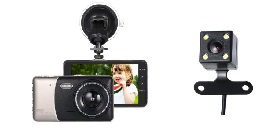 KKmoon Dashcam mit Rückfahrkamera