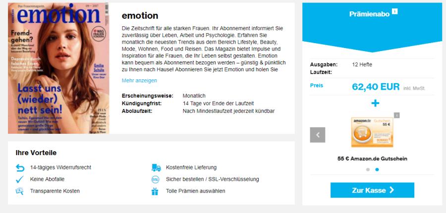 12 Ausgaben Emotion