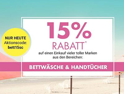 15 Rabatt Auf Bettwäsche Und Handtücher Im Galeria Kaufhof