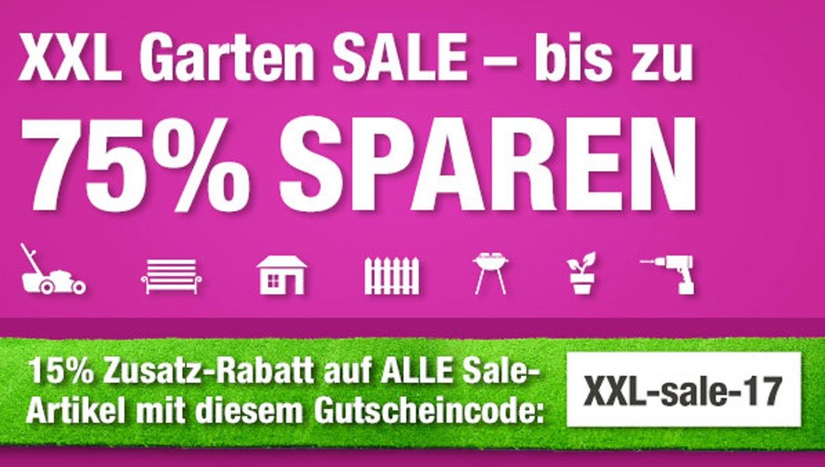 15% Rabatt auf alle bereits reduzierten Artikel GartenXXL