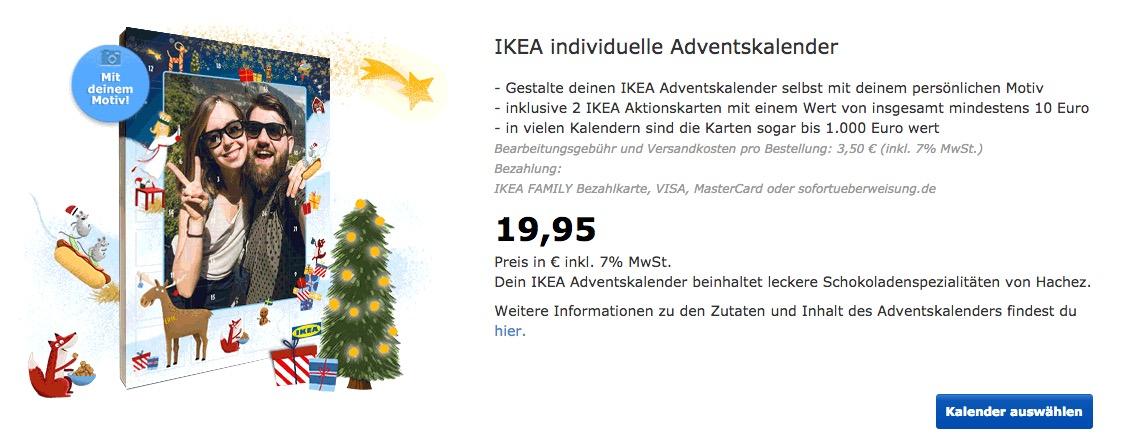 IKEA individuelle Adventskalender