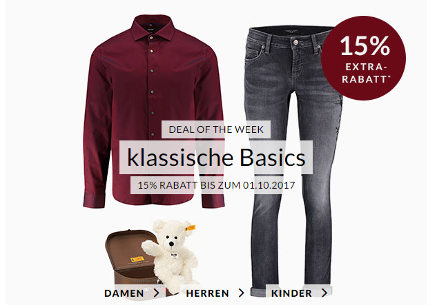 Engelhorn Weekly Deal ab 25. September 2017