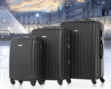 3-teiliges Kofferset (56, 67 und 76cm) in schwarz für 64,91 Euro aus Deutschland!